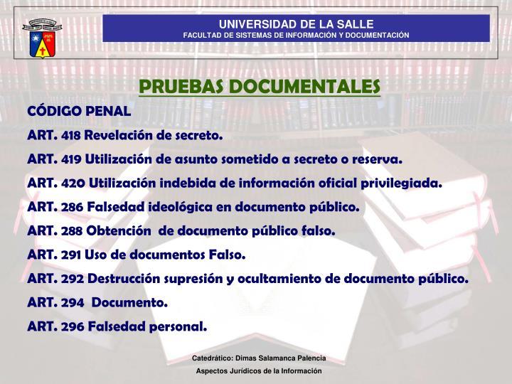 PRUEBAS DOCUMENTALES
