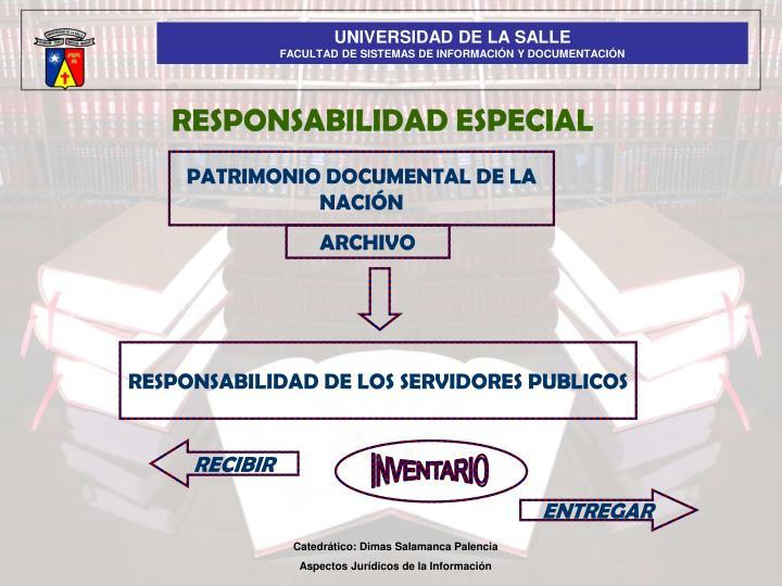RESPONSABILIDAD ESPECIAL