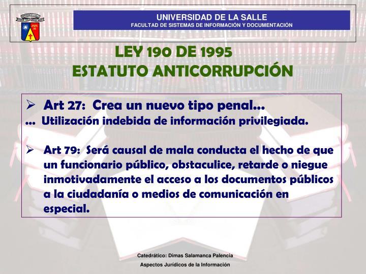 LEY 190 DE 1995