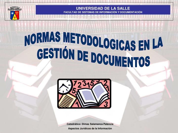 NORMAS METODOLOGICAS EN LA