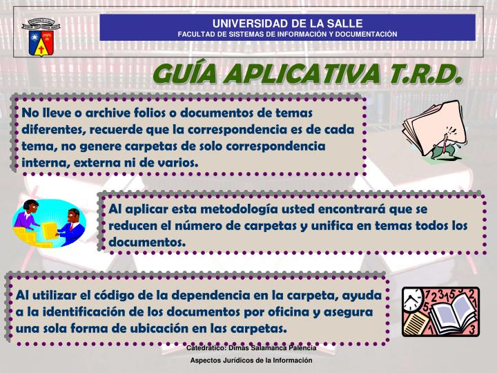 GUÍA APLICATIVA T.R.D.