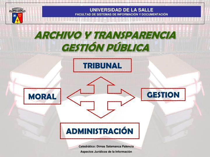 ARCHIVO Y TRANSPARENCIA