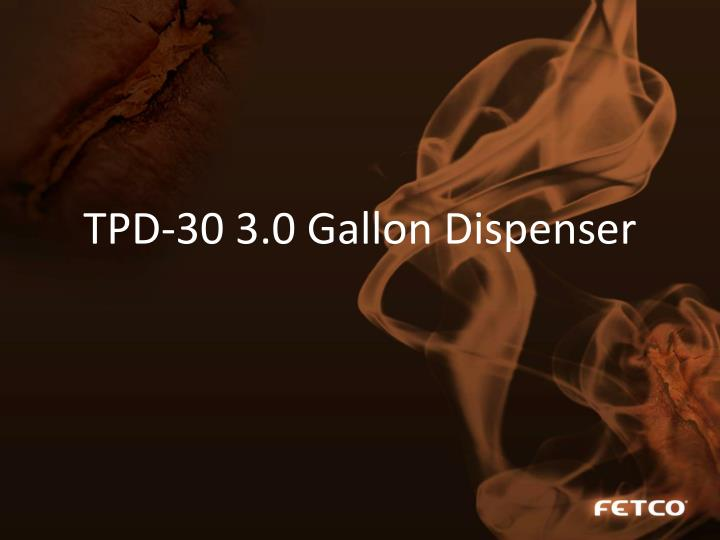 TPD-30 3.0 Gallon Dispenser