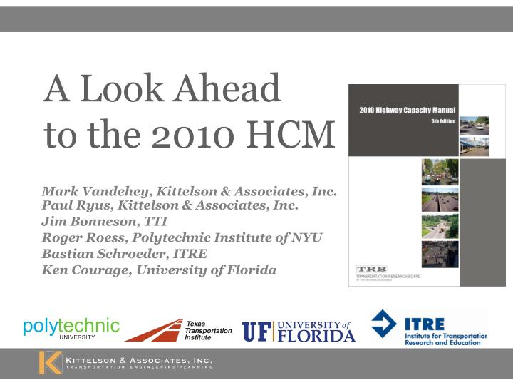 a look ahead to the 2010 hcm n.