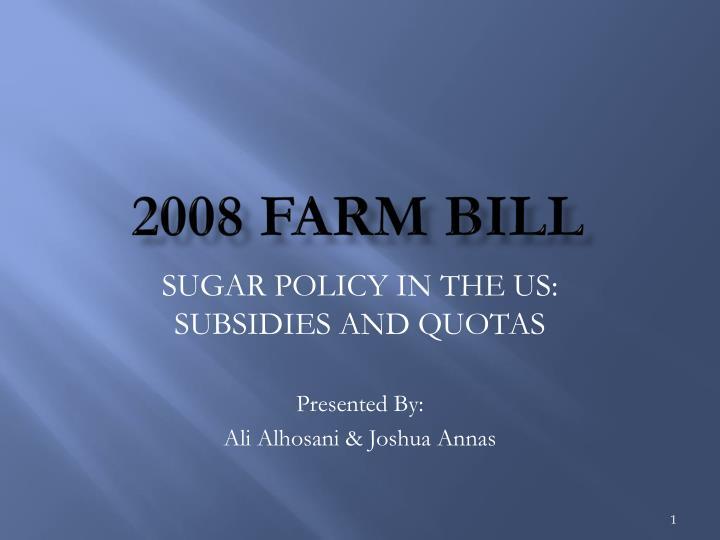 2008 farm bill n.