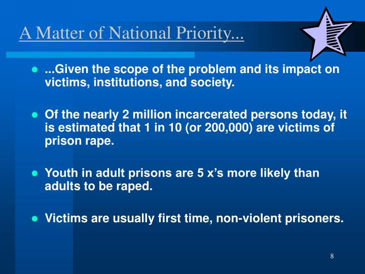 A Matter of National Priority...