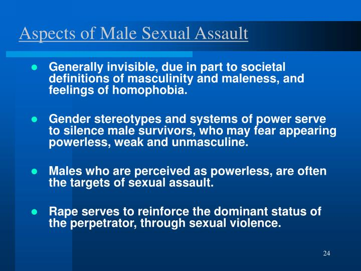 Aspects of Male Sexual Assault
