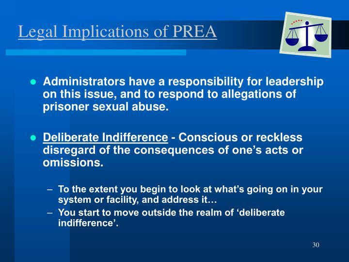 Legal Implications of PREA