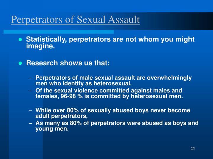 Perpetrators of Sexual Assault