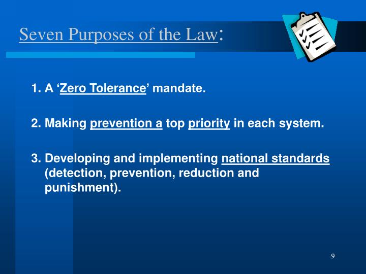 Seven Purposes of the Law