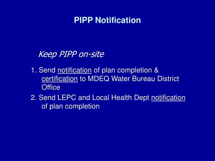 PIPP Notification