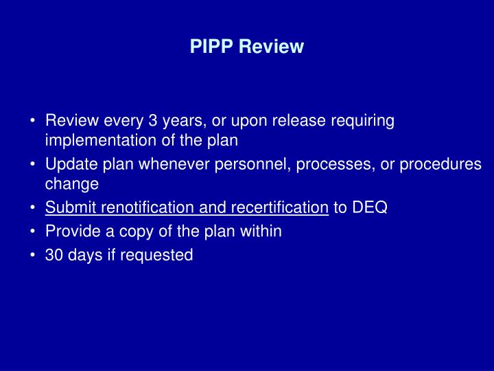 PIPP Review