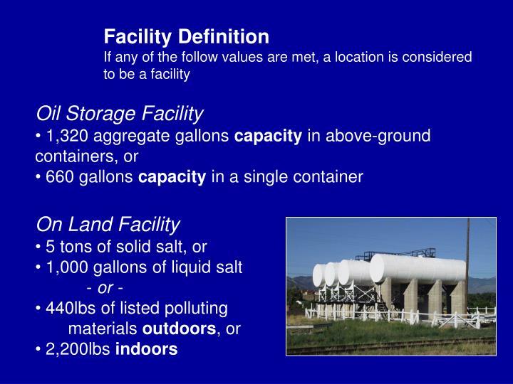 Facility Definition