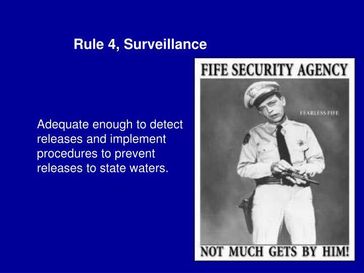 Rule 4, Surveillance