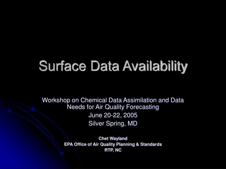 surface data availability n.