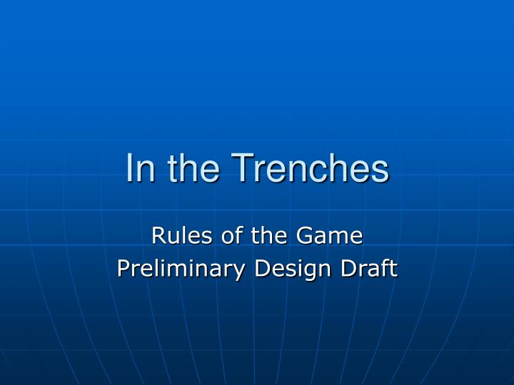 in the trenches n.