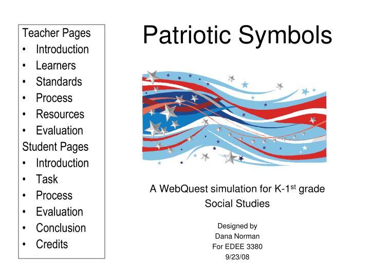 patriotic symbols n.