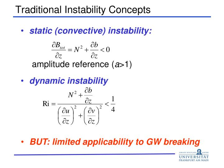 Traditional Instability Concepts