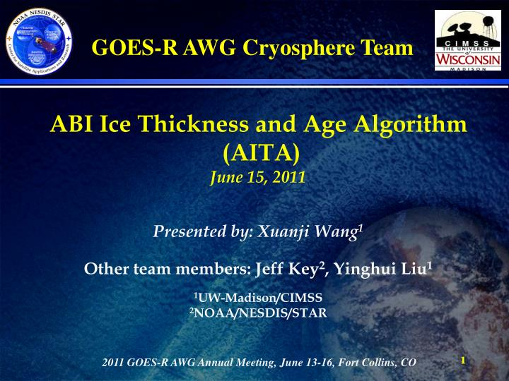 ABI Ice Thickness and Age Algorithm