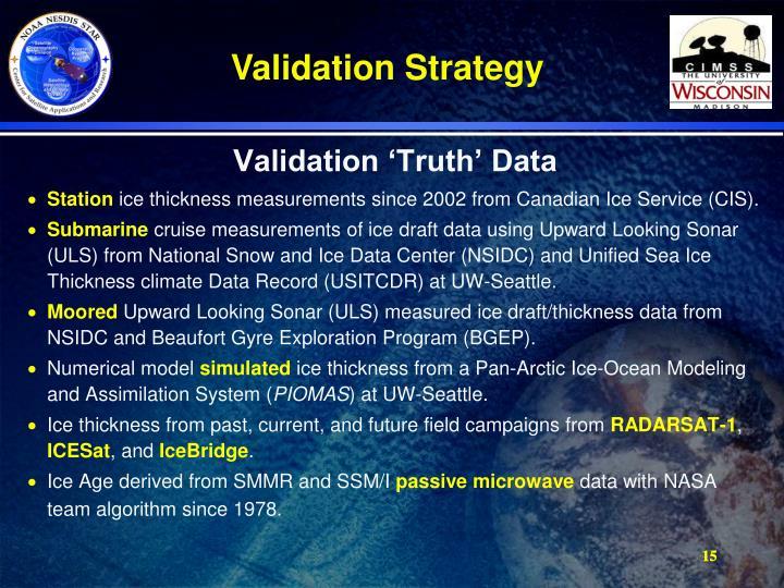 Validation 'Truth' Data