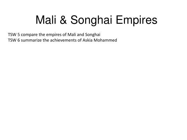 Mali songhai empires