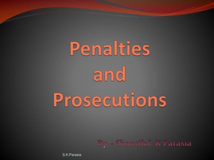 penalties and prosecutions n.