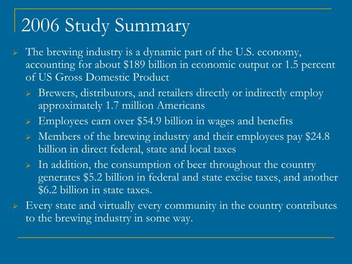 2006 Study Summary