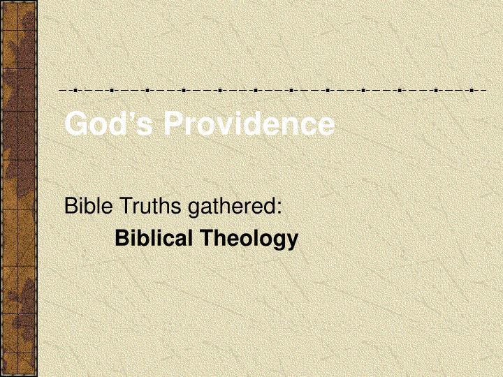God s providence