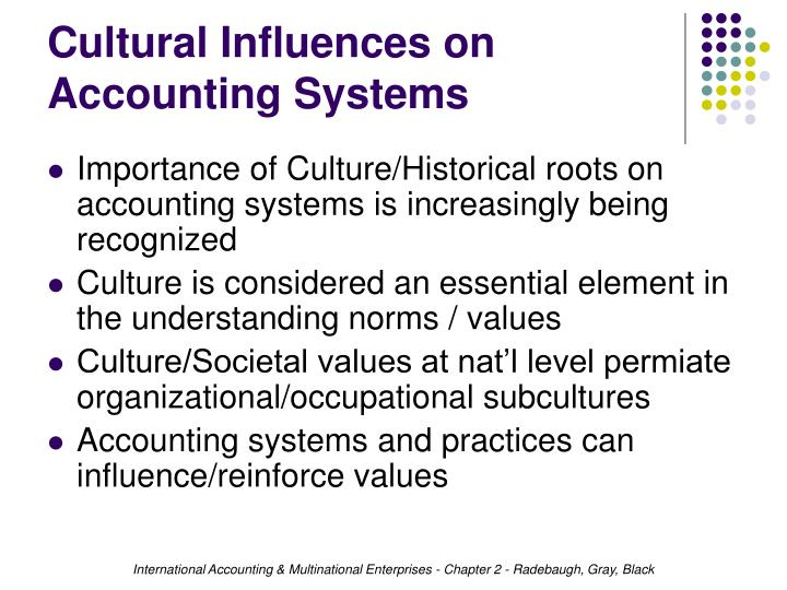 Cultural Influences on Accounting Systems