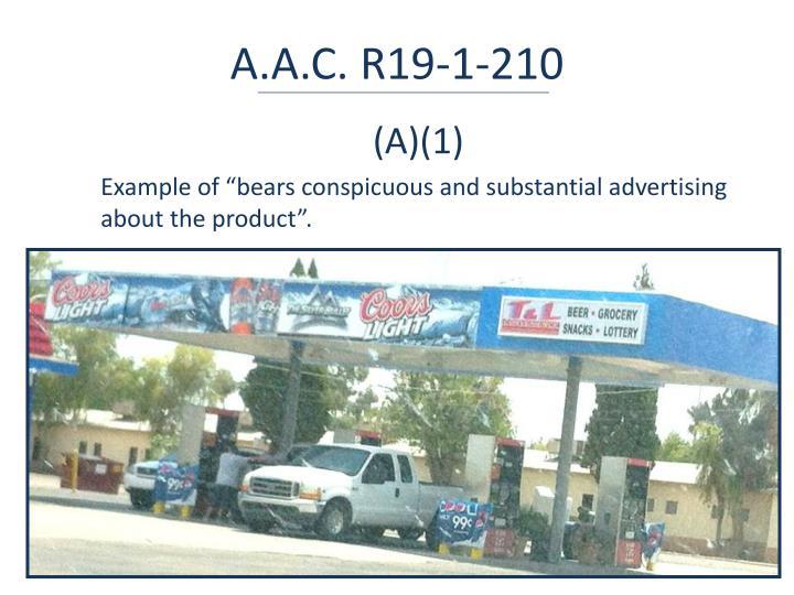 A.A.C. R19-1-210