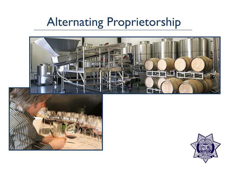 Alternating Proprietorship