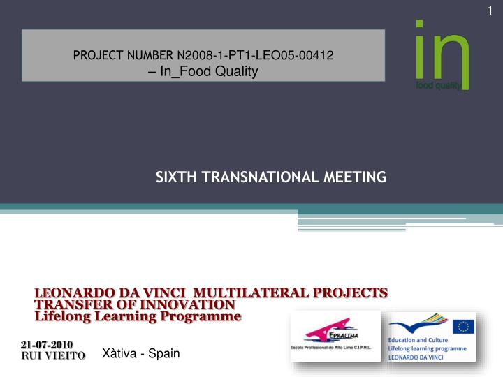 sixth transnational meeting