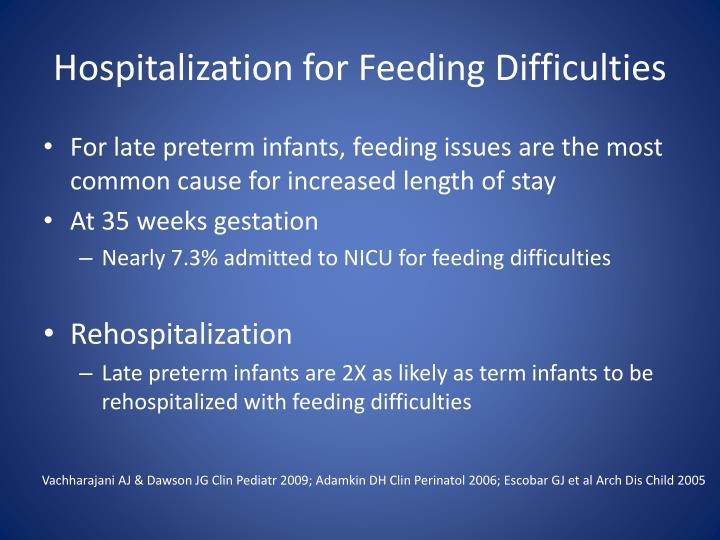 Hospitalization for Feeding Difficulties