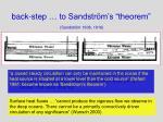 back step to sandstr m s theorem sandstr m 1908 1916