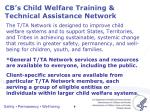 cb s child welfare training technical assistance network