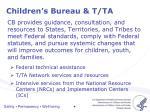 children s bureau t ta