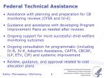 federal technical assistance