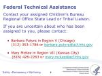 federal technical assistance2