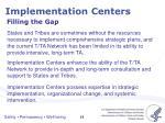 implementation centers
