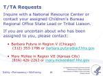 t ta requests