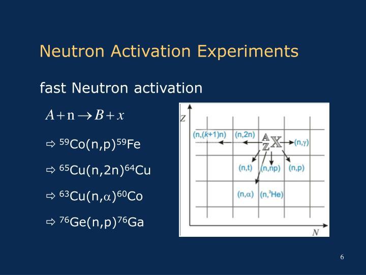 Neutron Activation Experiments