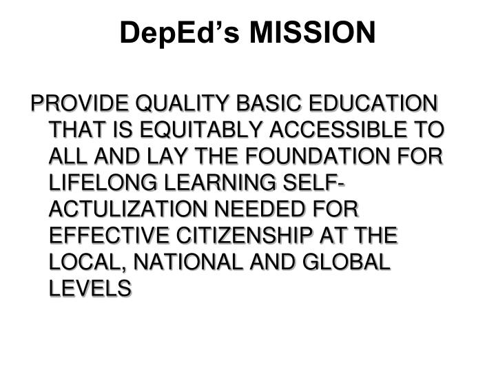 DepEd's MISSION