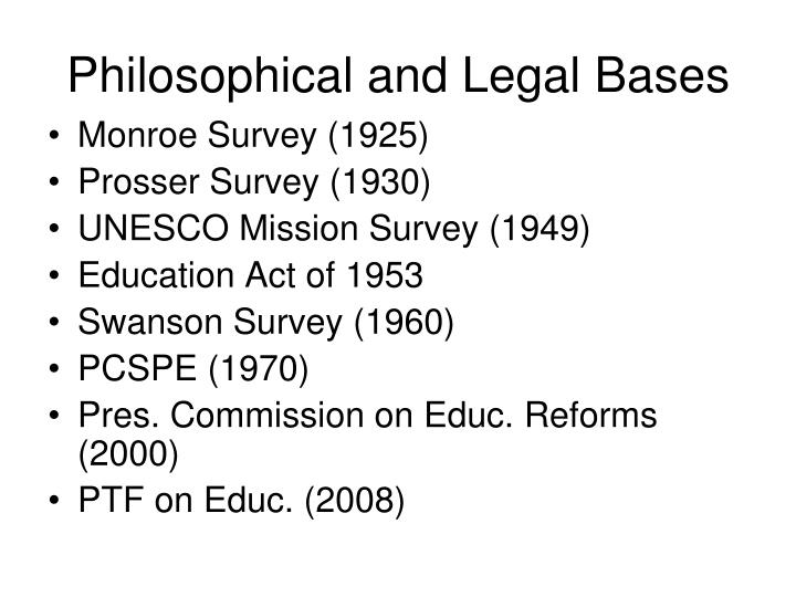 Philosophical and Legal Bases