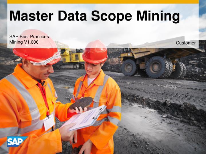 master data scope mining n.
