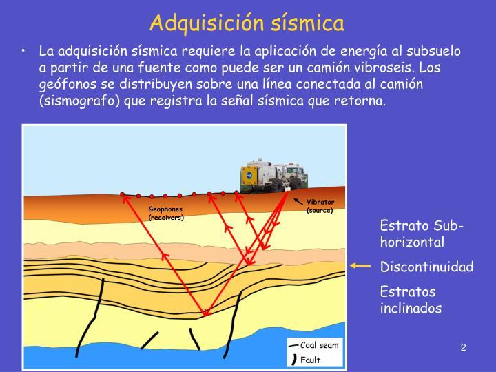 Adquisición sísmica