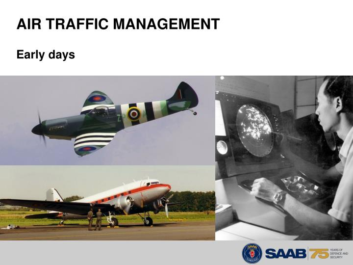 Air traffic management early days