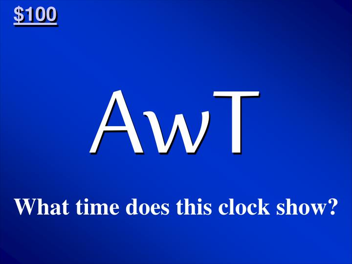 What time does this clock show?