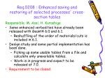 req 0208 enhanced saving and restoring of selected processes cross section tables