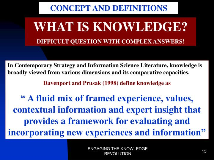 CONCEPT AND DEFINITIONS