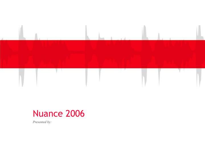 nuance 2006 n.